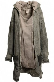 Freddy The Club Long cardigan in rough knitted yarn