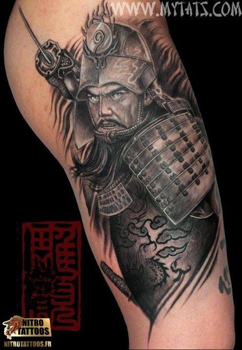 modele tatouage samourai