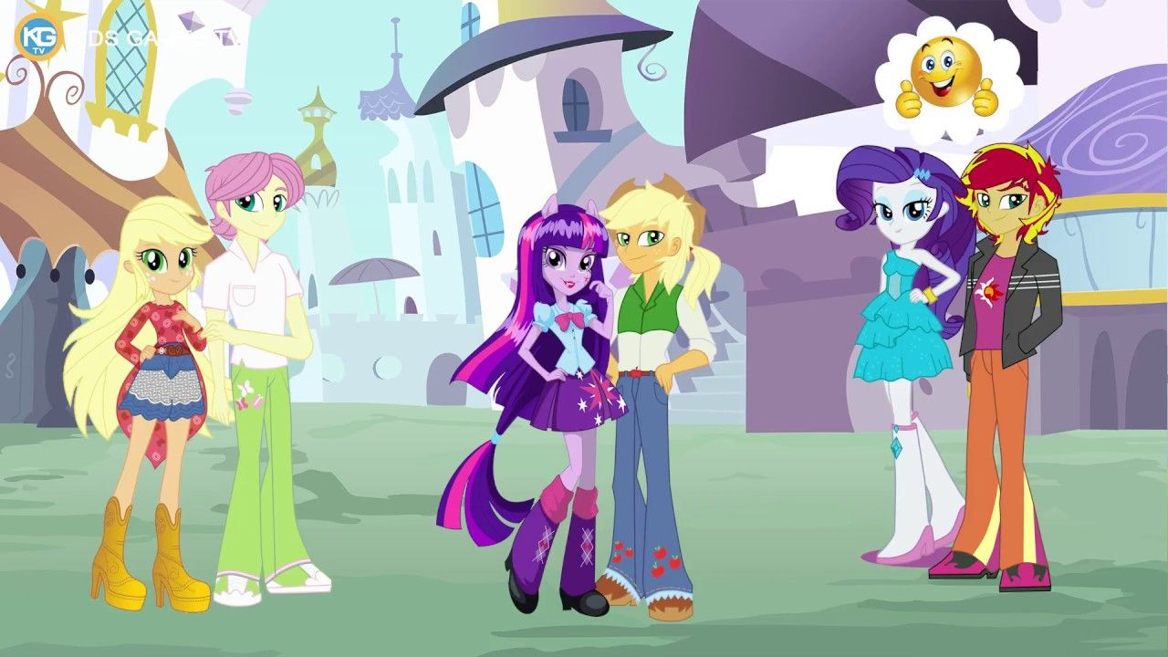 - MY LITTLE PONY Equestria Girls Love Story Meeting At Park - Kids