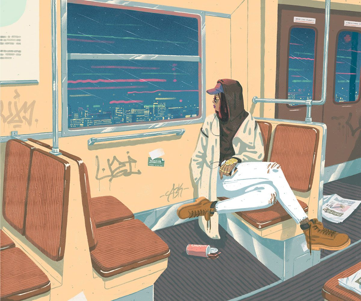 Jeff Östberg, Illustration for Tiden Magazine, 2015 | See more art on iheartmyart.com | #art | #illustration | #artist | #city | #subway | #illustrator | #iheartmyart