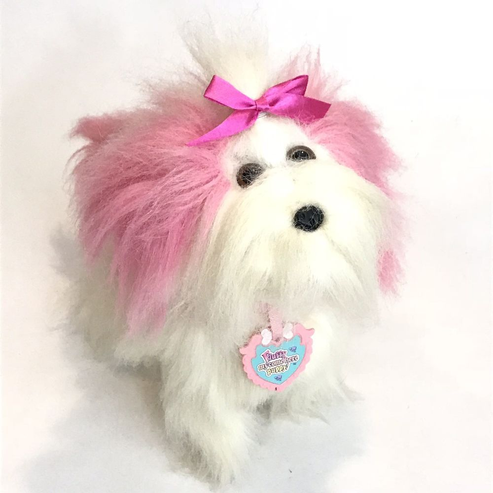 Fluffy My Come Here Puppy Battery Operated Dog Hasbro 1995 Puppy