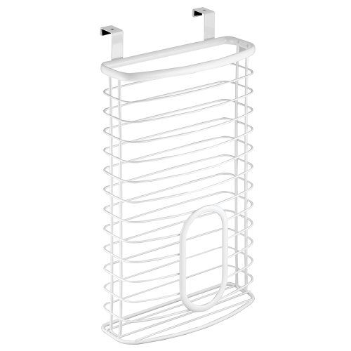 InterDesign Axis Over Cabinet Bag Holder, White