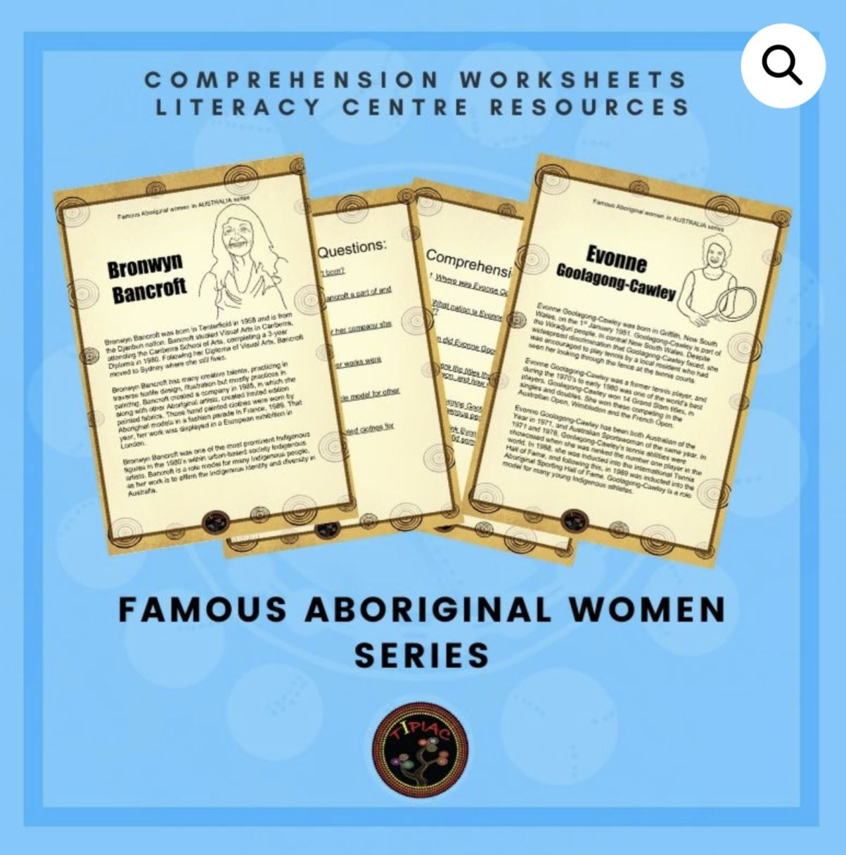 Famous Women Comprehension Worksheets In