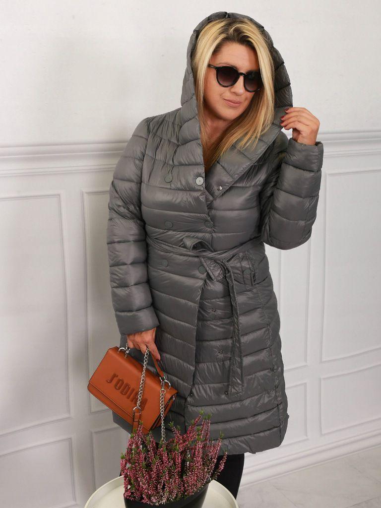 Plaszcz Damski Pikowany Z Kapturem Bella 427 Winter Jackets Fashion Jackets