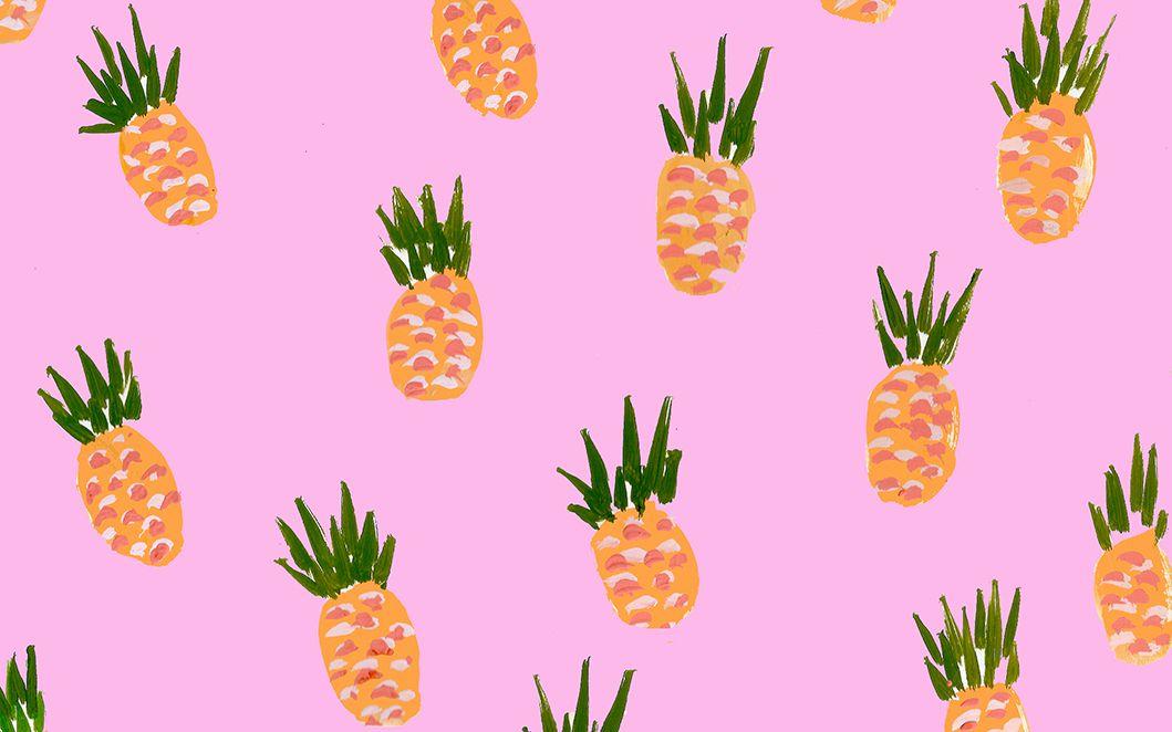 Pineapplesdlf1 Jpg 1 059 662 Pixels Kate Spade Wallpaper Dress Your Tech Laptop Wallpaper