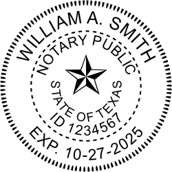 Notary Seal For The State Of Texas In 2019 Notary Seal