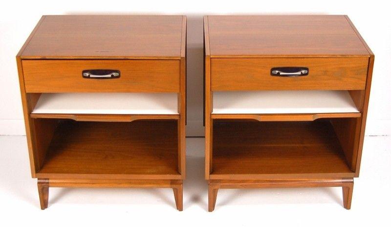 Best Pair Mid Century Modern Nightstands 495 Niles Http 400 x 300