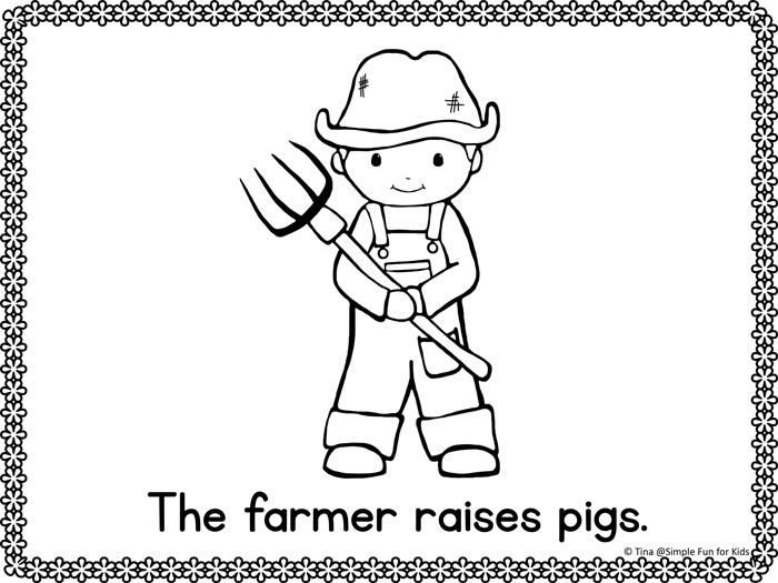 Community Helpers Emergent Reader Coloring Pages