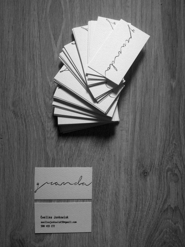 business cardhandmadediyrecyclingminimalism  minimal
