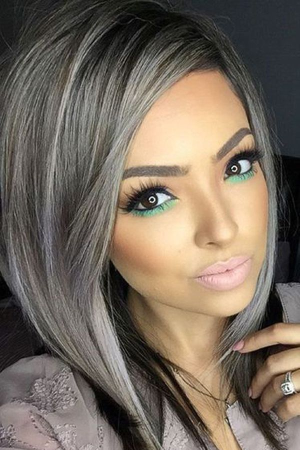 Rabake Hair Brazilian Straight Hair Weave 100% Remy Human Hair Extension 3/4 Bundles 1B Grey Color Ombre Hair Bundles #humanhairextensions