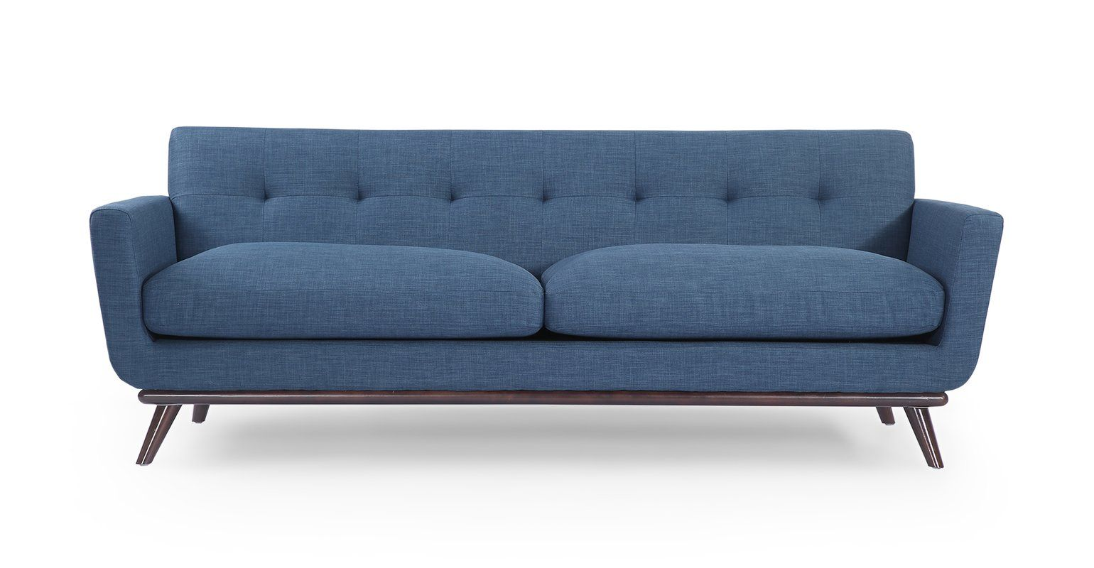 Luther Mid Century Modern Vintage Sofa With Wood Legs Mid Century Modern Sofa Vintage Sofa Vintage Modern Sofa