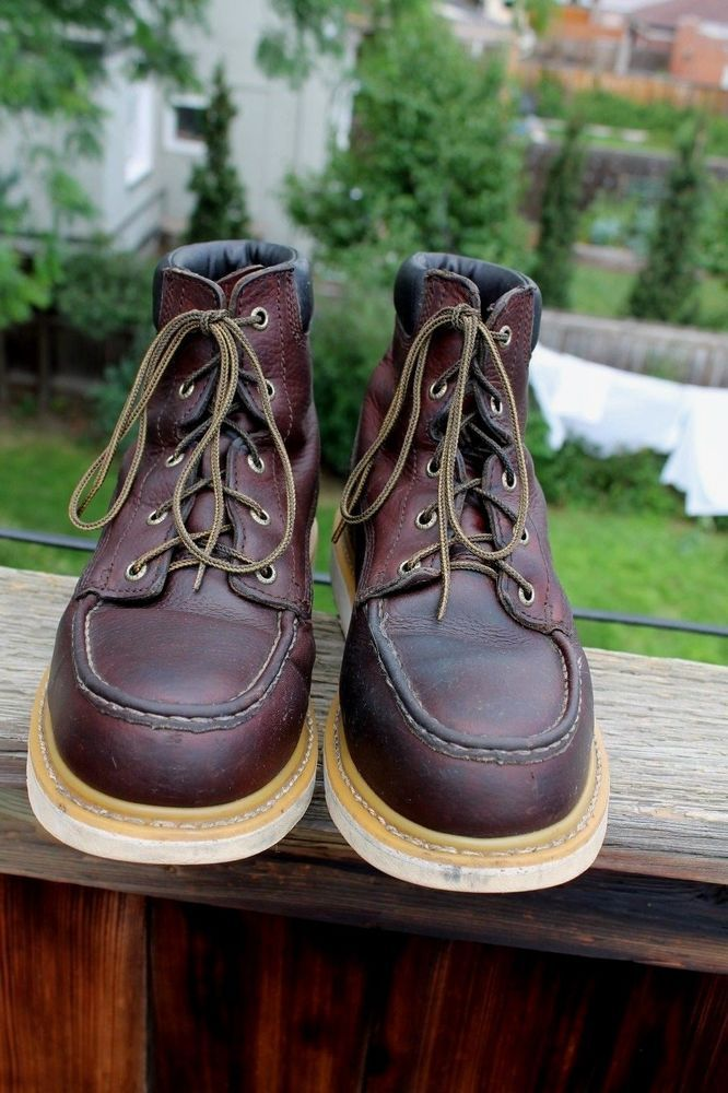 Mens Red Wing Irish Setter Work Boots Steele Toe Size 9 D