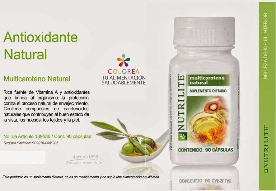 Multicaroteno Natural Productos Amway Salud Dental Hogares Ecológicos
