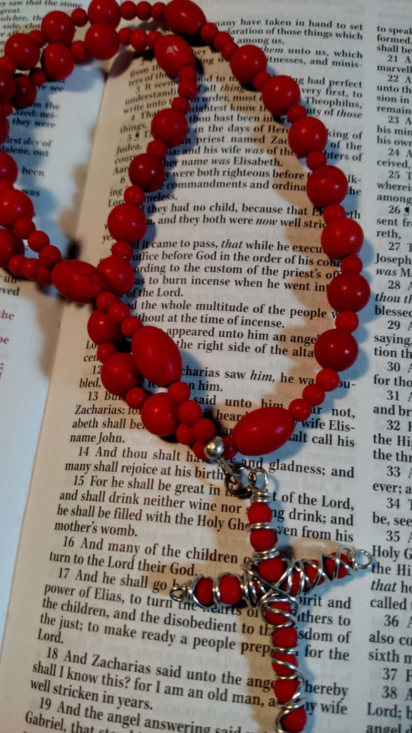R144 Anglican Rosary Protestant Prayer Beads Gemstone by kristanscross on Etsy