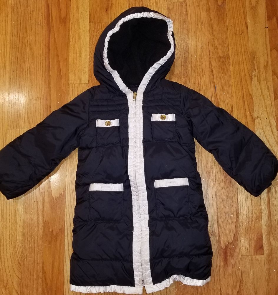 93fc6a707 Baby Gap Long quilted puffer fleece lined Jacket Winter Coat Girl s ...