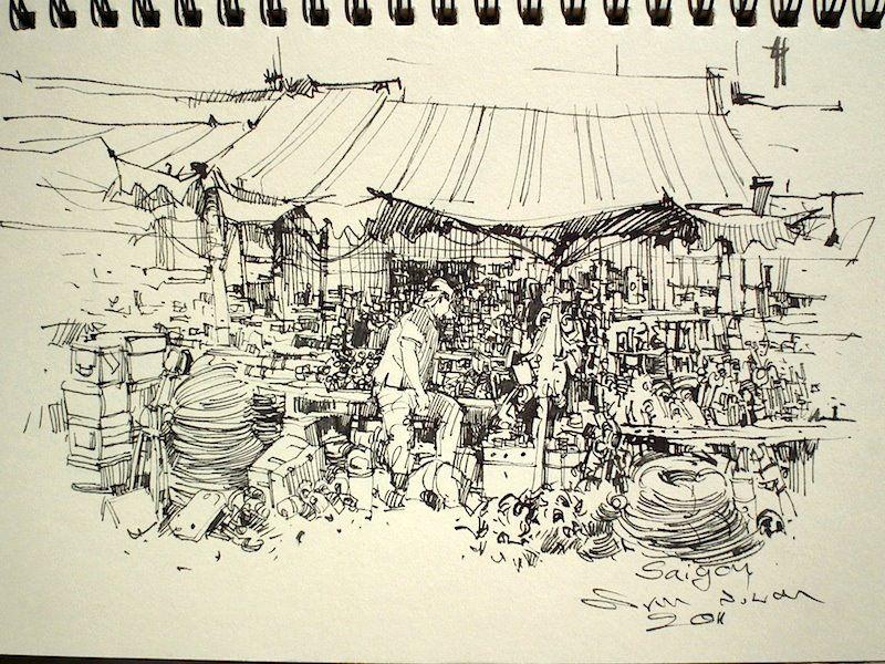 Saigon sketch (ink)