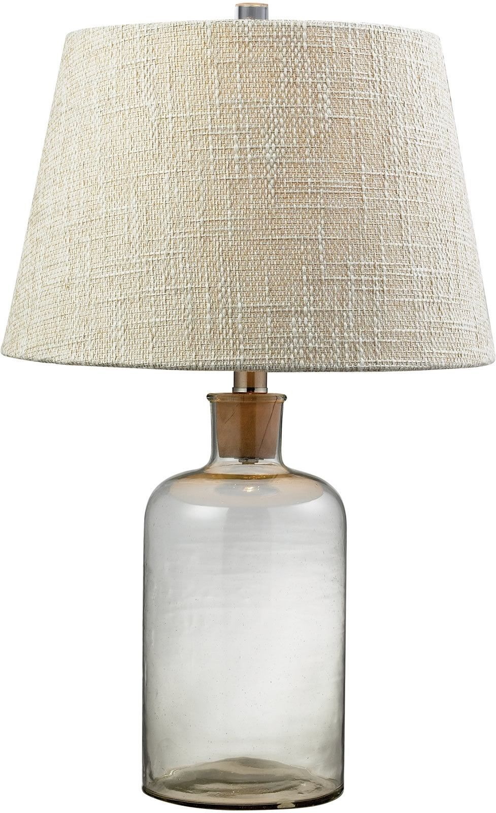 0 022239 1 Light 3 Way Table Lamp Clear Table Lamp Table Lamp