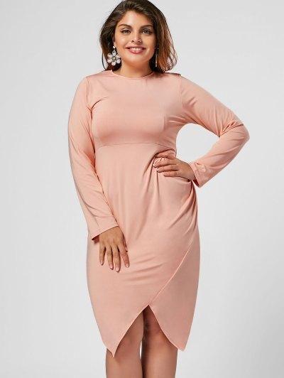 7640594008e  AdoreWe  Zaful Zaful Asymmetrical Bodycon Plus Size Midi Dress -  AdoreWe.com