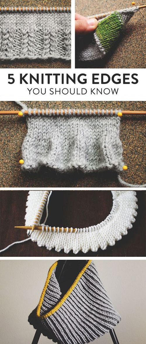 5 Genius Knitting Edges You'll Definitely Want to Get to Know Better  – project Pull