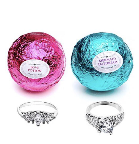 Bath Bomb With Jewelry Bath Bombs With Rings Bath Bomb Gift Sets Wine Bottle Diy Crafts