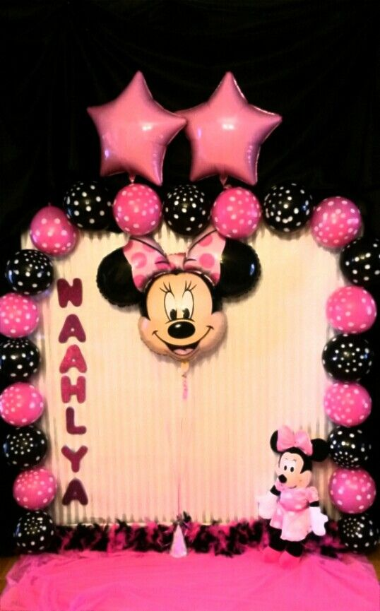 Minnie Mouse Backdrop Minnie Mouse Theme Party Minnie Mouse