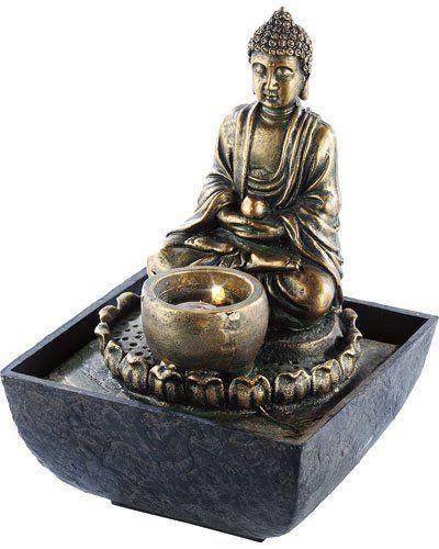 Fontaine d\u0027intérieur lumineuse Bouddha Jardin Zen Pinterest - fontaine a eau d interieur