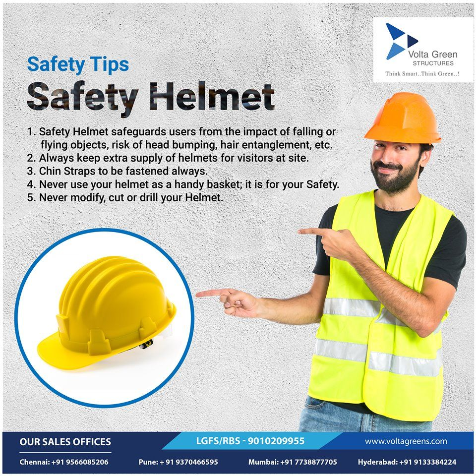 Safety Helmet Tips ☛ Safety Helmet safeguards users from