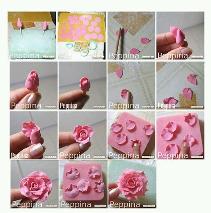 Making Fondant Rose Steps Cake Pinterest Cupcake Ideen