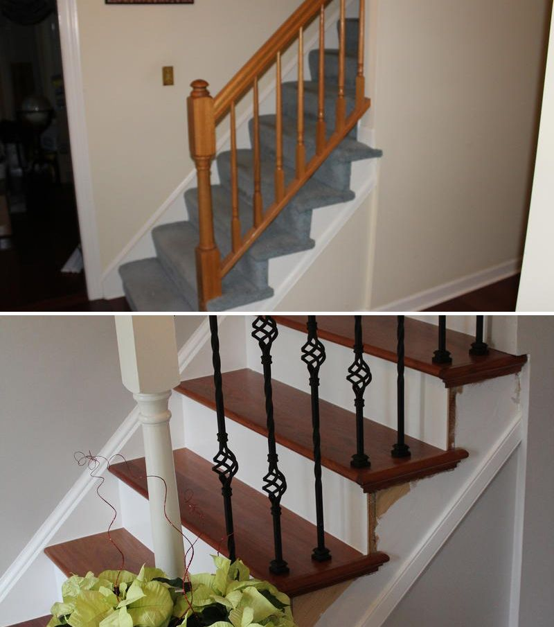 Best John From Pa Gave His Stairs A Brazilian Cherry Makeover 400 x 300