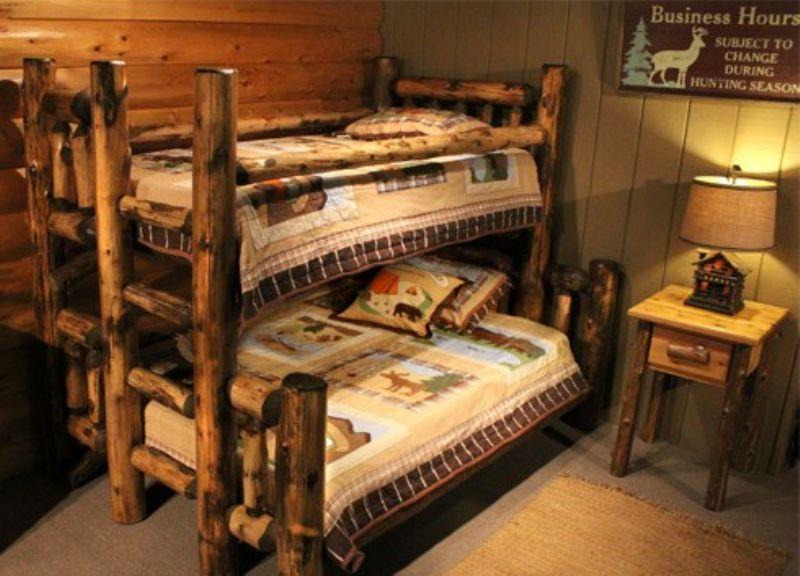 Cabin Bunk Beds Log