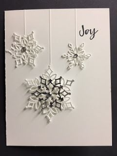 Hearts Come Home, Snowfall Thinlits, Christmas Card