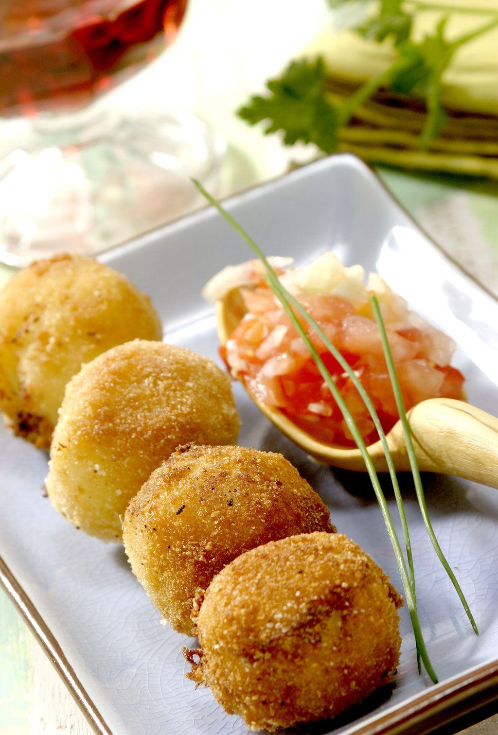 Las Recetas Del Mes De Enero Croquetas De Patata Recetas De Comida Croquetas