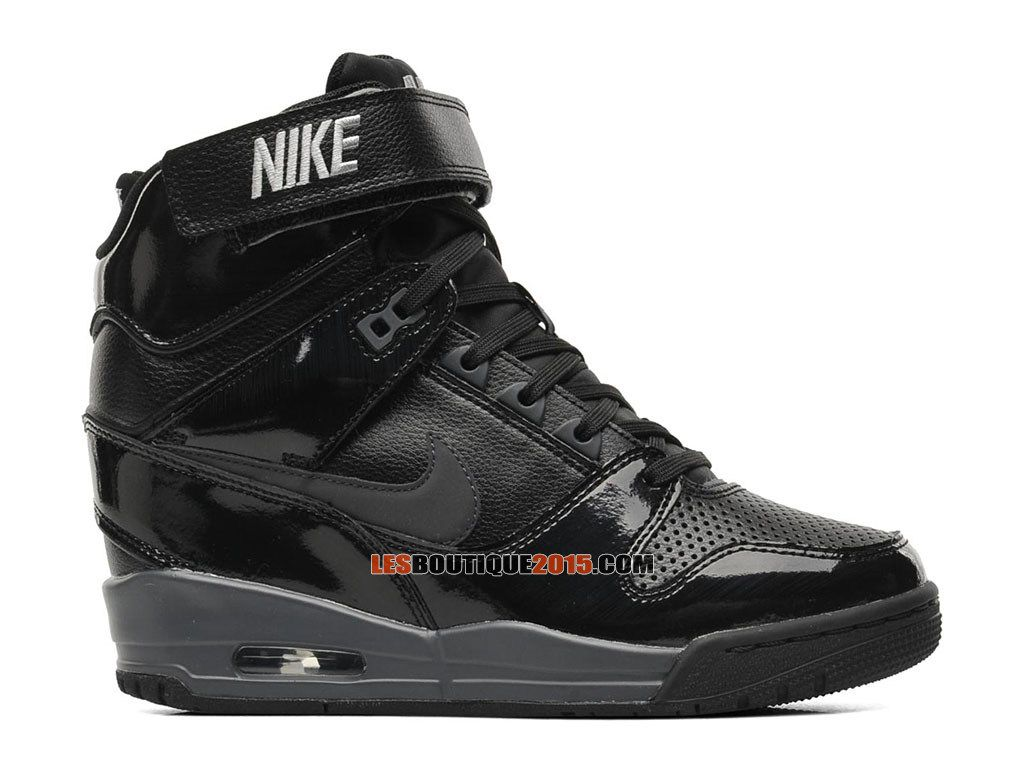 nike air revolution sky hi gs chaussure montante nike pas cher pour femme noir dark gris. Black Bedroom Furniture Sets. Home Design Ideas
