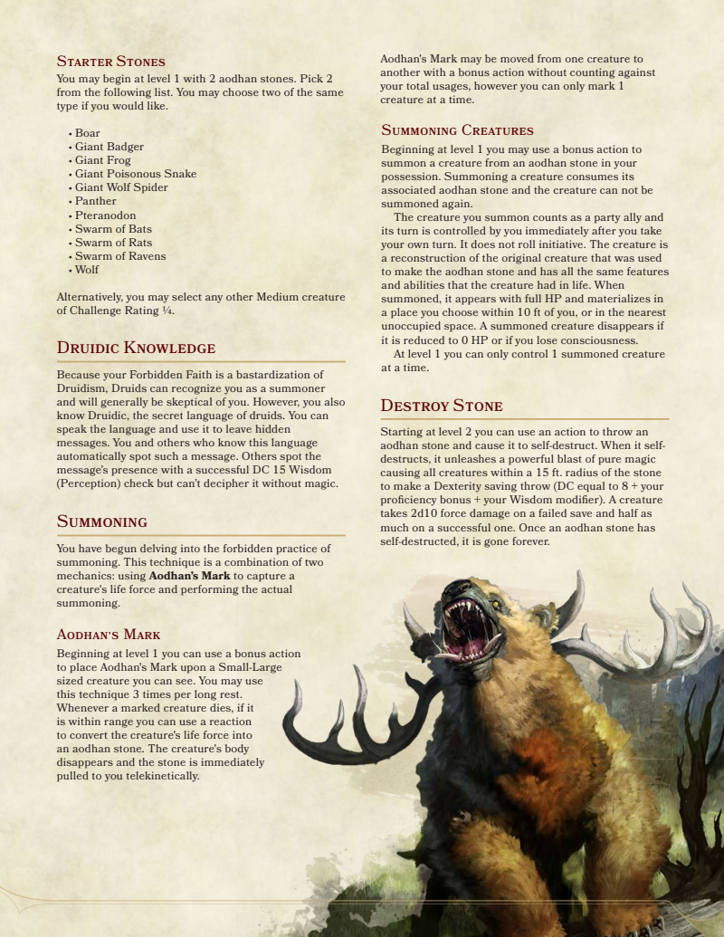 Pin by Redwulf on D&D   Dnd classes, Dnd 5e homebrew, Dnd