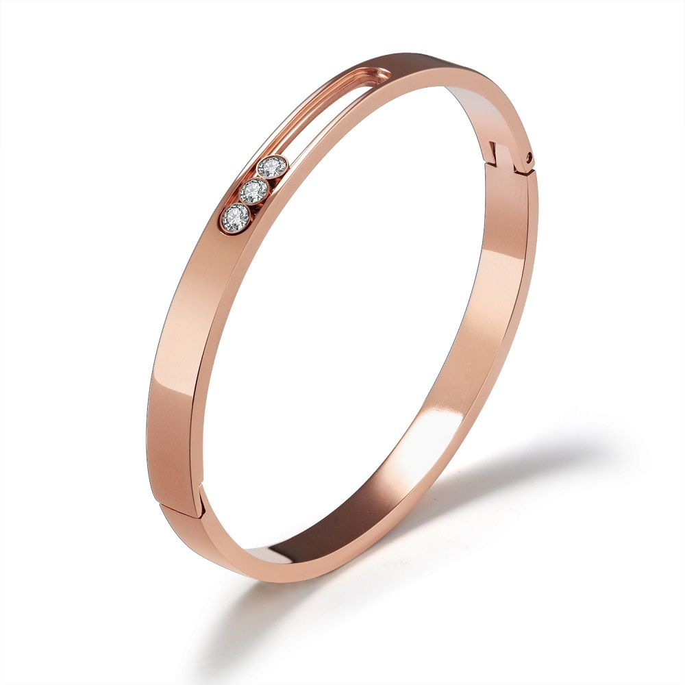 Fate love brand women bracelets u bangles for girls inlay cubic