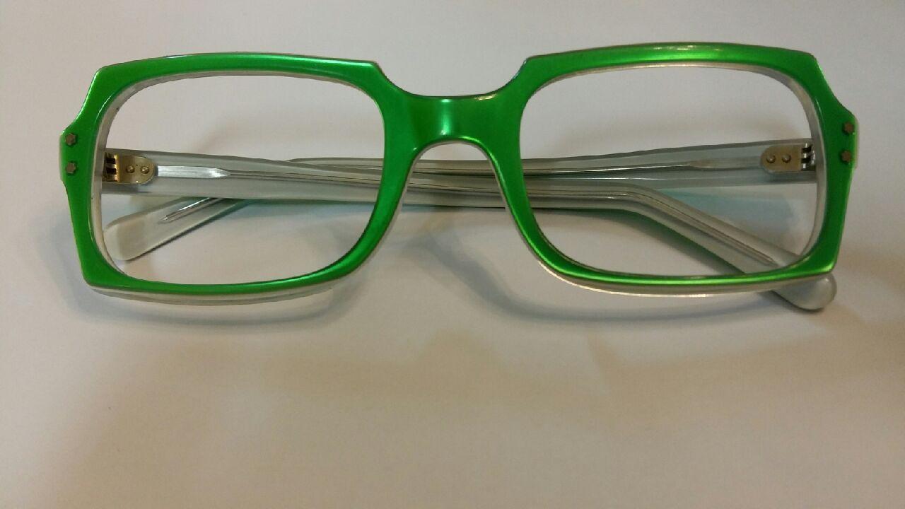 neon grüne Vintage Brille 80er Jahre