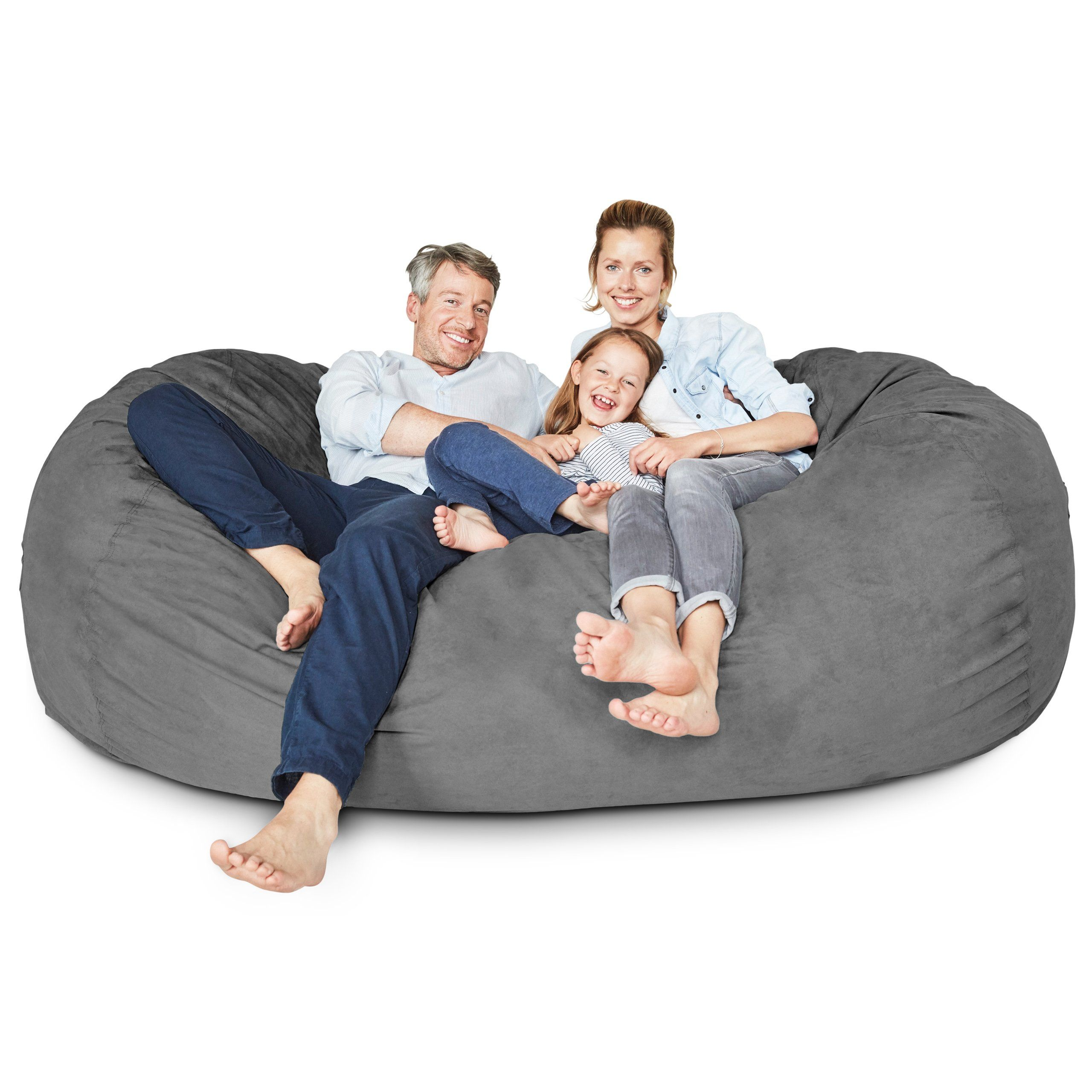 cushion Lumaland Luxury 7Foot Bean Bag Chair with