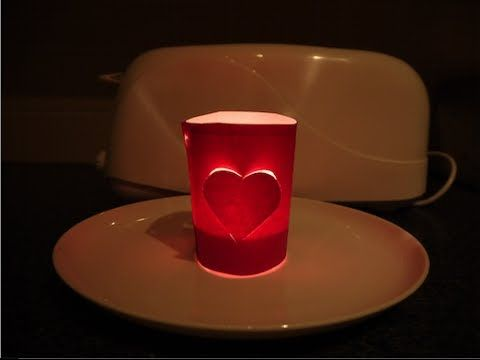 Pantalla de corazón para velas. Valentine's day decor. EcoDaisy - YouTube