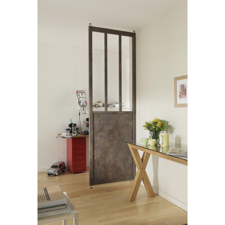 cloison amovible vitr e en mdf atelier larg 80cm x haut de x leroy merlin deco. Black Bedroom Furniture Sets. Home Design Ideas
