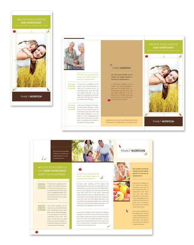 nutritionist tri fold brochure template httpwwwdlayoutscomtemplate 411nutritionist tri fold brochure template