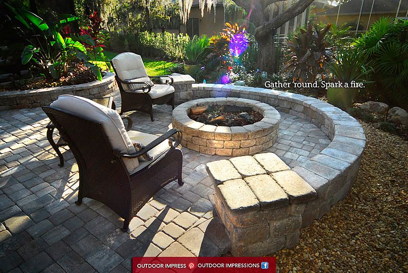 Brick Pavers Outdoor Kitchens Outdoor Impressions Tampa Florida Fl Patio Outdoor Backyard Pool