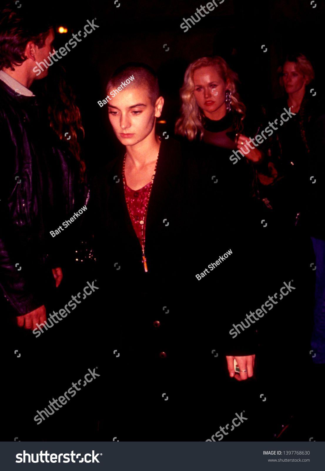 Los Angeles Circa 1991 Singer Sinead O Connor Leaves Roxbury