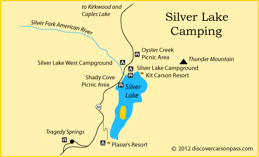 silver lake campground map Map Of Silver Lake Area Campgrounds On Carson Pass Ca Silver silver lake campground map