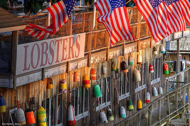 I ate a whole Lobster at an outside table in Maine looking at the ocean.  Doesn't get better than that!