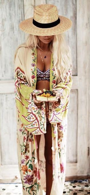 » boho fashion » bohemian style » gypsy soul » festival » living free » elements of bohemia » wanderer » love of fringe » bohemian dresses skirts » free spirit » boho chic » Beach Fashion, Cute Bikini,