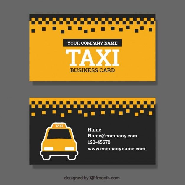 taxi service business card free vector business card. Black Bedroom Furniture Sets. Home Design Ideas