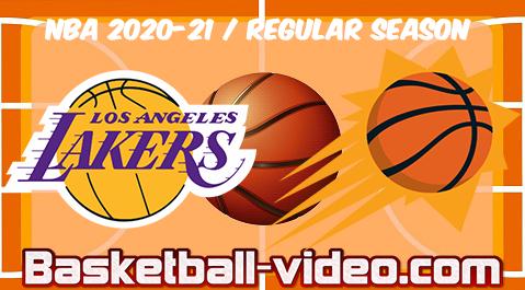 Los Angeles Lakers Vs Phoenix Suns Full Game Replay Highlights 21 03 2021 V 2021 G