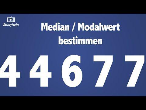 Median - Modalwert - Statistik 1 - YouTube