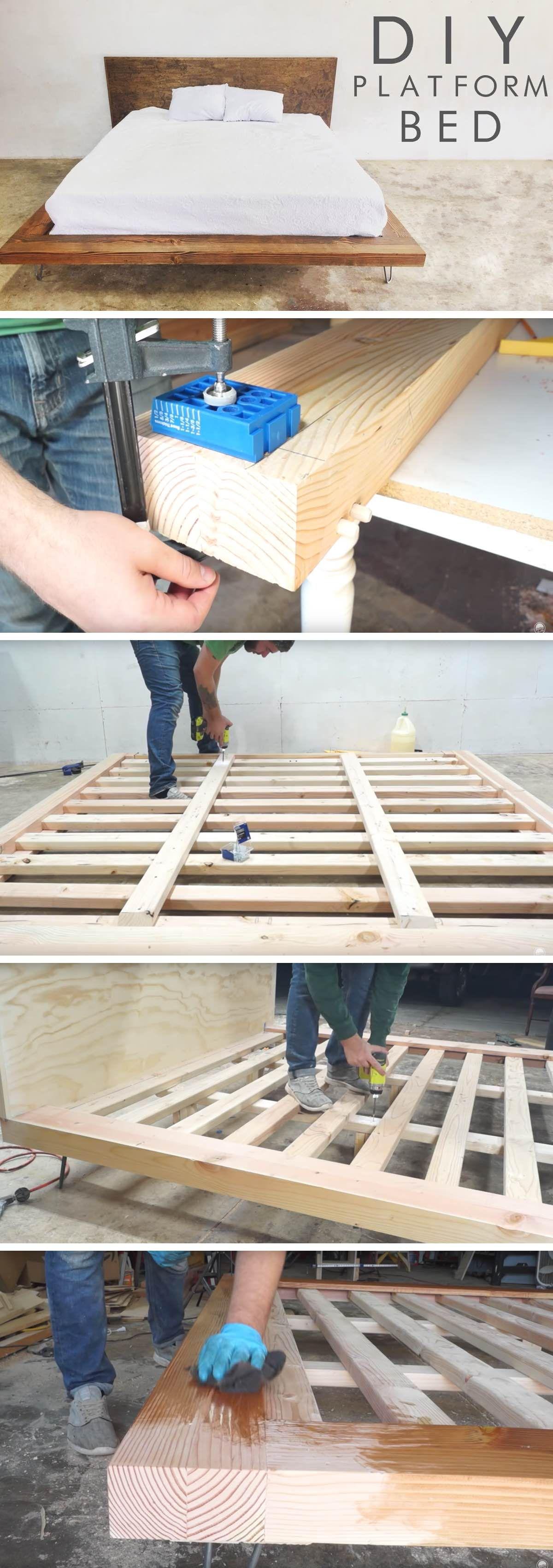 Wonderful DIY Modern Platform Bed (With images) Diy