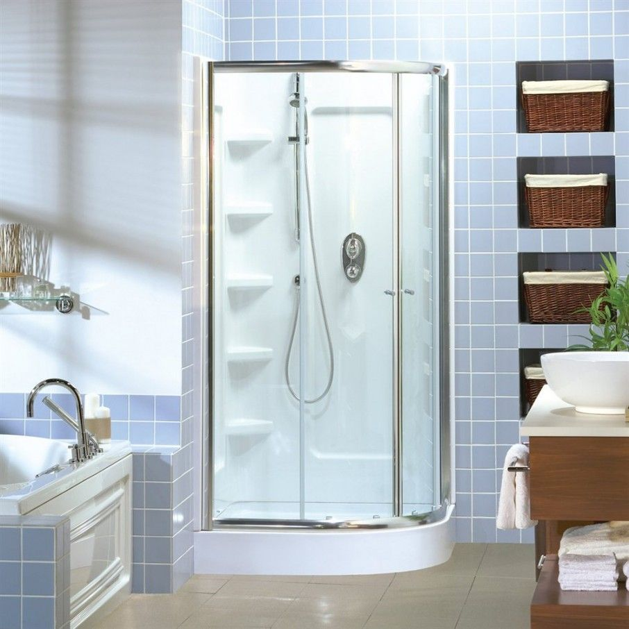 Fabulous One Piece Shower Units Design With Glass Door In Small ...